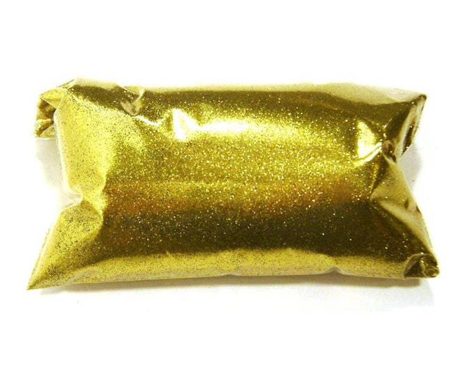 "Rich Gold Fine Glitter - Solvent Resistant Polyester Loose Glitter .008"" Glitter Nails, Kids Crafts, Resin Jewelry - 6oz / 177ml Package"
