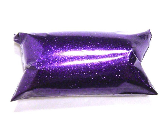 "Fine Glitter, Bright Purple .008"" Loose, Solvent Resistant, Poly Glitter, Lip Gloss, Wedding, Eyeshadow, Glitter Nails - 6oz / 177ml Package"