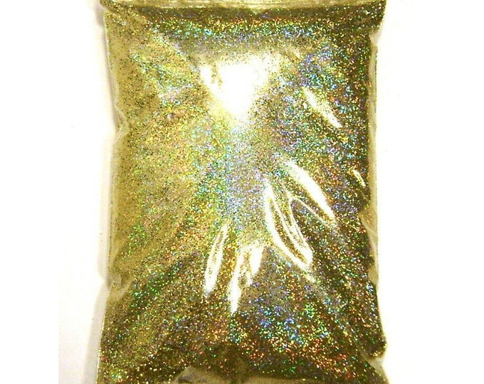 "Gold Jewels Holographic Glitter, Solvent Resistant Polyester .008"", .015"" or .025"" Fine to Chunky Iridescent Glitter, 1 lb / 454g Package"