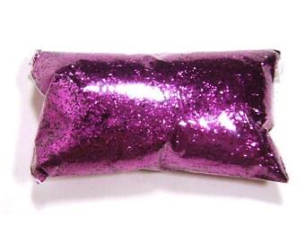 "Chunky Glitter Rich Fuchsia (Purple) .025"" Loose Polyester Glitter Nail Polish, Shoe, Body, Slime, Yeti, Craft Glitter 6oz / 177ml Package"