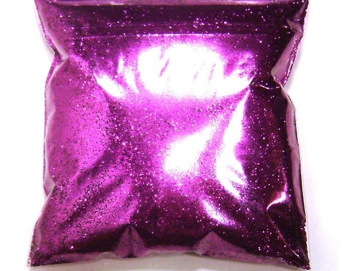 "Rich Fuchsia, Purple Glitter, Fine .015"" Solvent Resistant Polyester, Nail Polish, Candles, Resin Art, Tumbler Glitter, 11oz / 325ml Package"