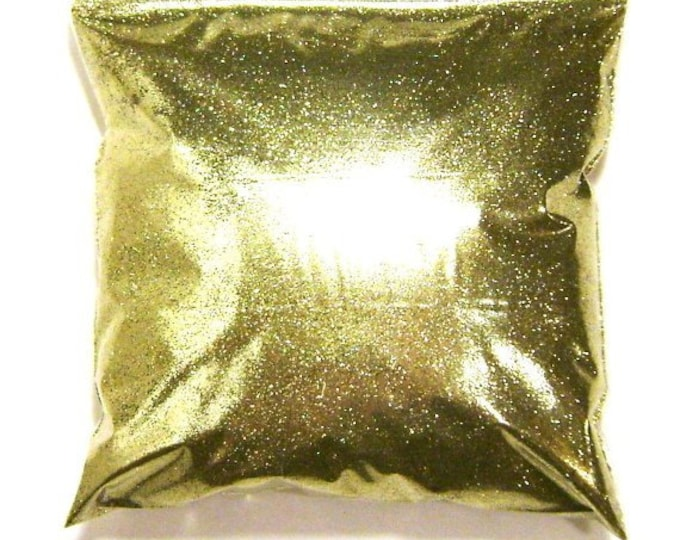 "Bright Gold Glitter .008"" Fine Solvent Resistant Polyester Glitter - Nail Polish, Crafts, Slime, Face & Body Glitter - 11oz / 325ml Package"