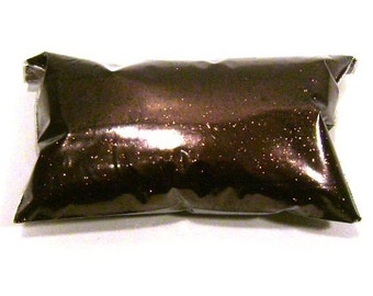 "Brown Glitter Antique Bronze Solvent Resistant Poly Fine Glitter .015"" Slime, Nail Polish, Makeup, Face & Body Glitter 6oz / 177ml Package"