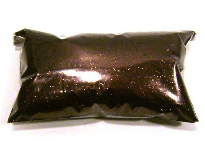 """Brown Glitter Antique Bronze Solvent Resistant Poly Fine Glitter .015"""" Slime, Nail Polish, Makeup, Face & Body Glitter 6oz / 177ml Package"""