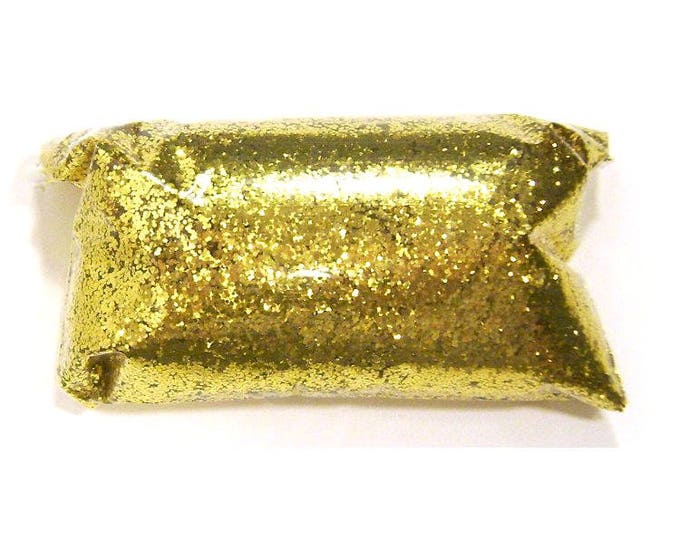 """Loose Rich Gold Glitter - Glitter Nails - Solvent Resistant Polyester .025"""" Chunky, Epoxy, Shoe Glitter, Slime Glitter - 6oz / 177ml Package"""