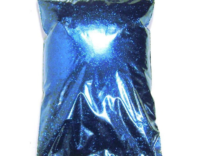 """Electric Blue Glitter, Solvent Resistant Polyester .008"""", .015"""" or .025"""" Fine to Chunky Professional Wholesale Glitter, 1 lb / 454g Package"""
