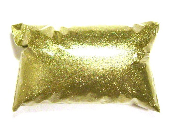 """Bright Gold Extra Fine Glitter .004"""" Poly Loose Bulk Glitter, Custom Tumblers, Cosmetics, Wedding, Nails, Shoes & More - 6oz / 177ml Package"""