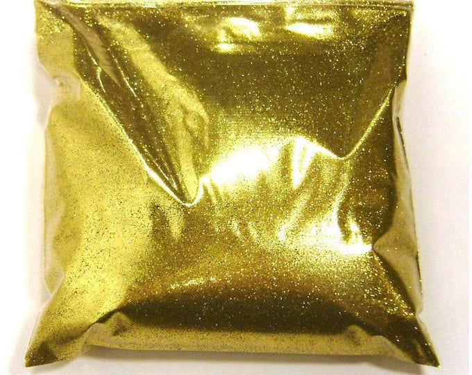 "Rich Gold Fine Glitter - Loose Bulk Glitter Solvent Resistant Polyester .008"" Poly - Nail Polish, Lip Gloss, Body Art - 9oz / 266ml Package"