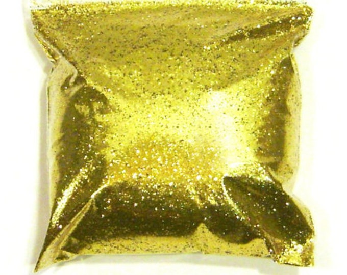 "Rich Gold Glitter .015"" Fine Loose Solvent Resistant Polyester Glitter - Nail Polish, Tumbler, Face, Body, Resin Glitter 9oz / 266ml Package"