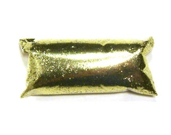 "Bright Gold Glitter Fine .015"" Loose Solvent Resistant Poly Glitter, Shoe, Makeup, Slime, Tumbler, Nail Polish, Craft, Sneaker, Yeti Glitter"