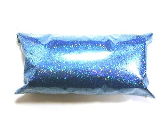 "Sky Blue Jewels Holographic Glitter, Solvent Resistant Polyester .015"" Holo Fine Glitter, Nail Polish, Makeup, Tumbler, Yeti, Slime Glitter"