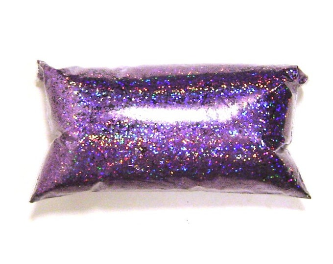 "Lavender Jewels Chunky Holographic Glitter, Solvent Resistant .025"" Poly Holo Glitter, Nail Polish, Makeup, Tumblers - 6oz / 177ml Package"