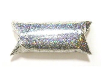 """Silver Jewels Chunky Holographic Glitter, Solvent Resistant Polyester .025"""" Holo Glitter - Nail Polish, Makeup, Tumbler, Yeti, Resin Glitter"""