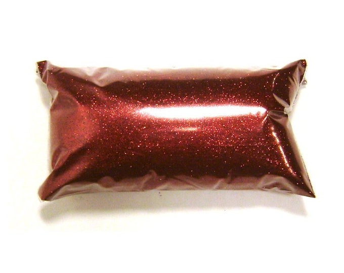 """Rich McIntosh Red Fine Glitter .008"""" Solvent Resistant Polyester Loose Bulk Glitter, Nail Polish, Slime, Yeti, Tumblers, 6oz / 177ml Package"""