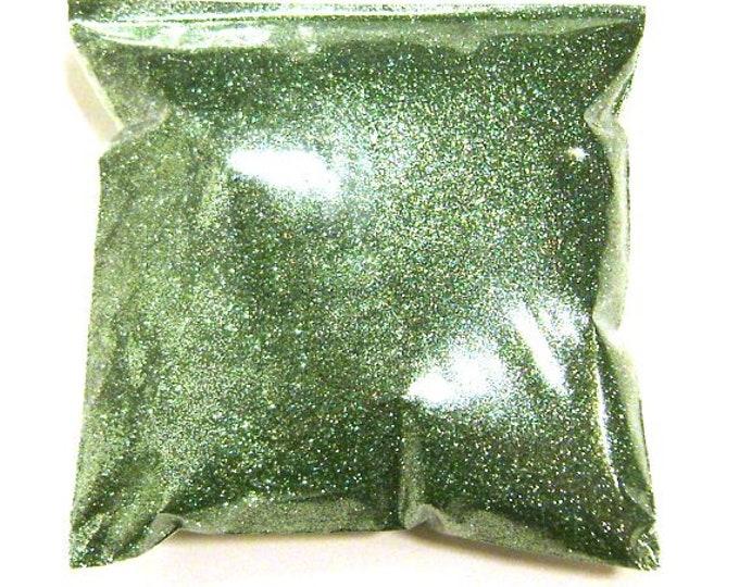 "Bright Ocean Green Glitter, Solvent Resistant Poly, Fine .008"", Bulk Tumbler Glitter, Lip Gloss, Nails, Resin Coasters, 9oz / 266ml Package"