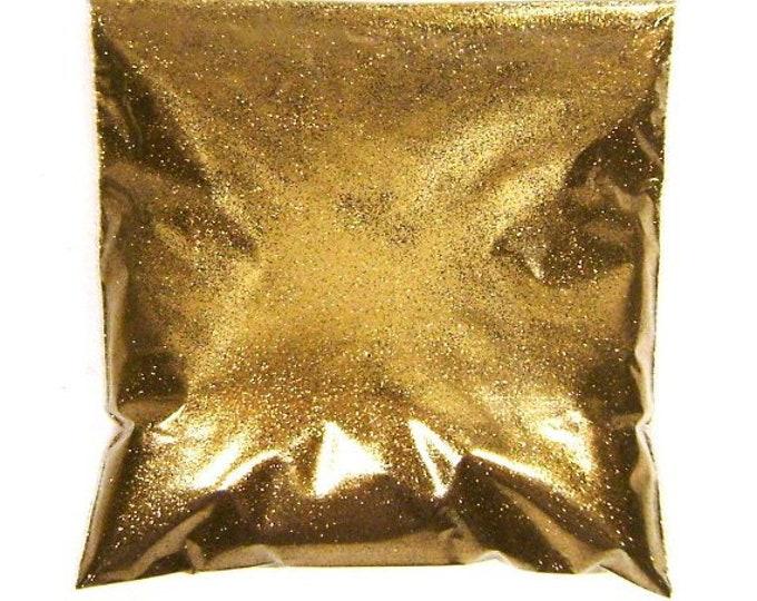 """Golden Chestnut Fine Glitter .008"""" Solvent Resistant Loose Bulk Glitter Nail Polish, Wedding, Tumbler, Makeup Glitter - 9oz / 266ml Package"""