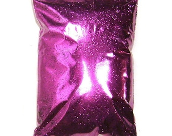 "Rich Fuchsia Purple Glitter Solvent Resistant Poly .008"", .015"" or .025"" Very Fine to Chunky Professional Bulk Glitter, 1 lb / 454g Package"