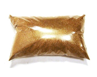 "Metallic Bronze Extra Fine Glitter .004"" Poly Loose Bulk Glitter, Custom Tumblers, Cosmetics, Wedding, Nails, Shoes - 6oz / 177ml Package"