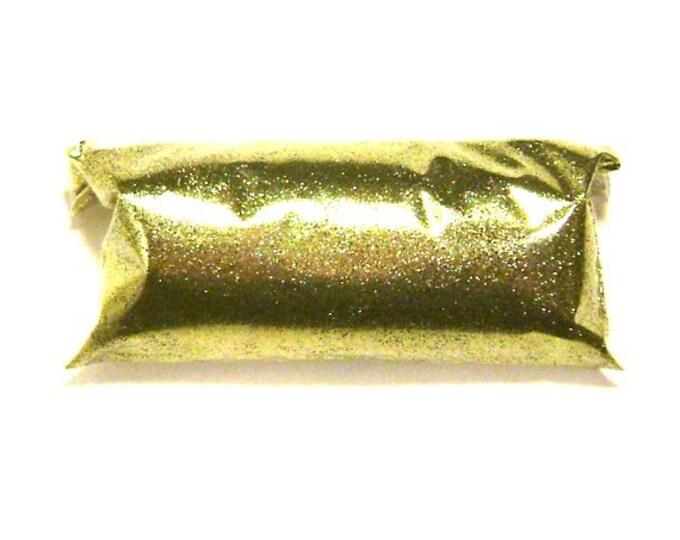 """Bright Gold Glitter .008"""" Solvent Resistant Polyester Fine Glitter Nail Polish Glitter, Resin Jewelry, Tumbler, Slime, Shoe, Sneaker Glitter"""