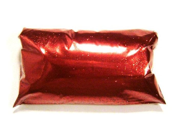"""Blaze Red Glitter .015"""" Fine Bulk Solvent Resistant Glitter Indie Nail Polish, Eyeshadow, Tumbler, Shoe, Slime Glitter 6oz / 177ml Package"""