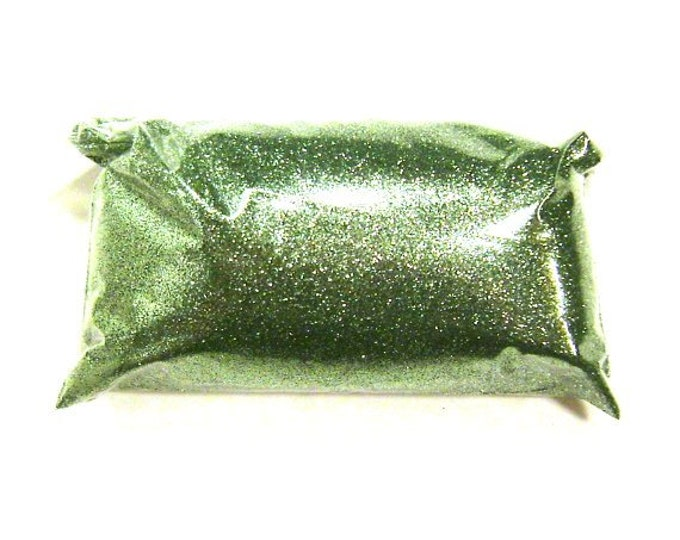 "Bright Ocean Green Fine Glitter Solvent Resistant Loose .008"" Bulk Glitter for Tumblers, Nails, Lip Gloss, Resin Jewelry 6oz / 177ml Package"