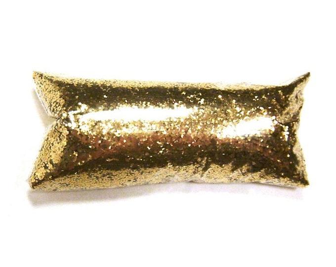 "Chunky Glitter Golden Sand (Dark Gold) .025"" Solvent Resistant Poly Loose Glitter Nail Polish, Yeti, Eyeshadow, Body & Face, Tumbler Glitter"