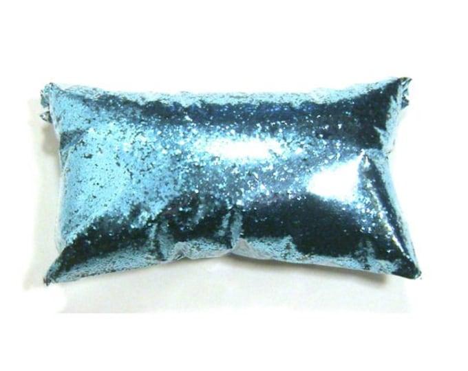 "Tropical Teal, Chunky, Blue Glitter .025"" Solvent Resistant, Bulk, Metallic Glitter, Slime, Yeti, Tumbler, Nail Polish, 6oz / 177ml Package"