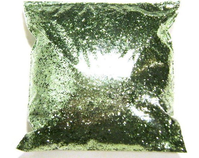 """Bright Ocean Green Glitter Solvent Resistant .025"""" Metallic Chunky Bulk Glitter, Tumbler, Slime, Nail Polish Glitter 11oz / 325ml Package"""