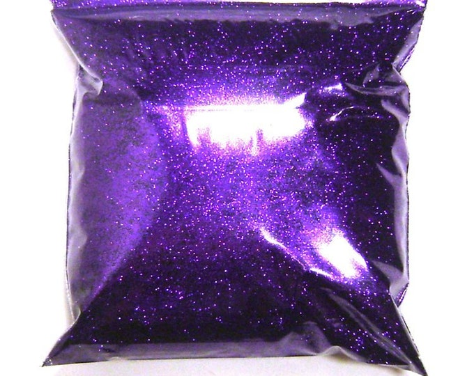 "Fine Glitter, Bright Purple .008"" Loose Solvent Resistant Pro Glitter Nail Polish, Tumblers, Face, Body, Resin Glitter, 11oz / 325ml Package"