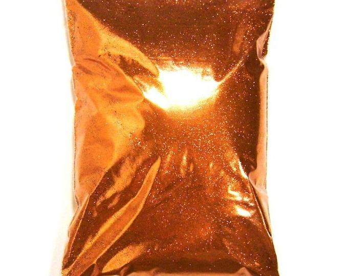 "Metallic Bright Orange Glitter Solvent Resistant .008"", .015"" or .025"" Very Fine, Fine, Chunky Professional Bulk Glitter 1 lb / 454g Package"