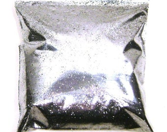 "Chrome Silver Glitter Fine .015"" Solvent Resistant Poly Glitter Nails, Cosmetics, Jewlery, Card Making, Tumbler Glitter, 9oz / 266ml Package"