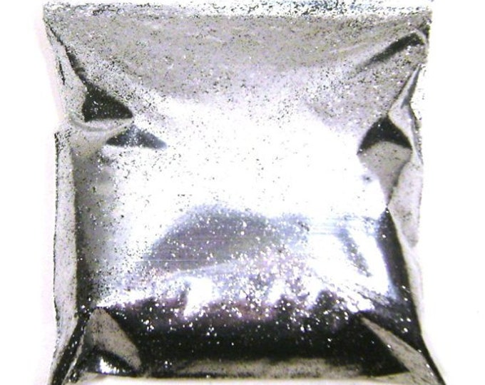 """Chrome Silver Glitter Fine .015"""" Solvent Resistant Poly Glitter Nails, Cosmetics, Jewlery, Card Making, Tumbler Glitter, 9oz / 266ml Package"""