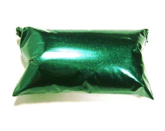 "Rich Emerald Green Glitter, Very Fine Polyester, .008"" Hex, Nail Polish, Shoes, Fabric, Epoxy Art, Custome Tumblers  - 6oz / 177ml  Package"