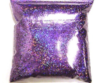 "Lavender Jewels Chunky Holographic Glitter, Rainbow Polyester .025"" Holo Bulk Glitter, Slime, Sneakers, Resin, Epoxy - 11oz / 325ml Package"