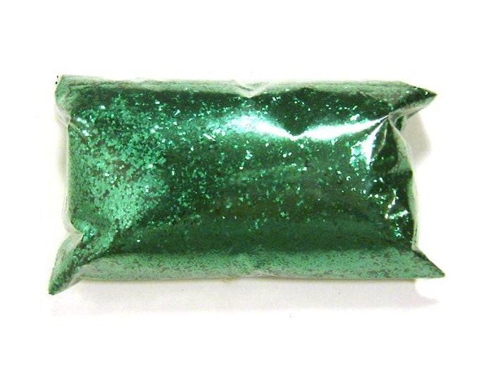 "Chunky Green Glitter, Metallic Lime, Loose Polyester Glitter .025"" Nail Polish, Shoe, Body, Slime, Tumbler, Crafts - 6oz / 177ml Package"