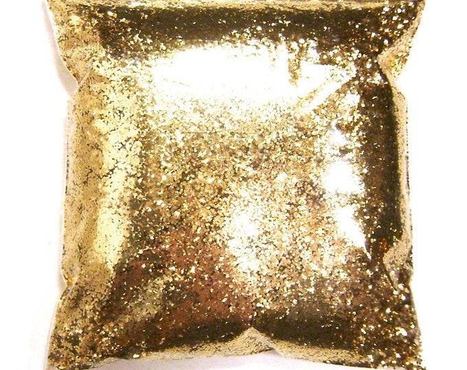 """Chunky Glitter Golden Sand (Dark Gold) .025"""" Solvent Resistant Bulk Glitter, Body Art, Nail Polish, Tumblers, Wedding - 11oz / 325ml Package"""
