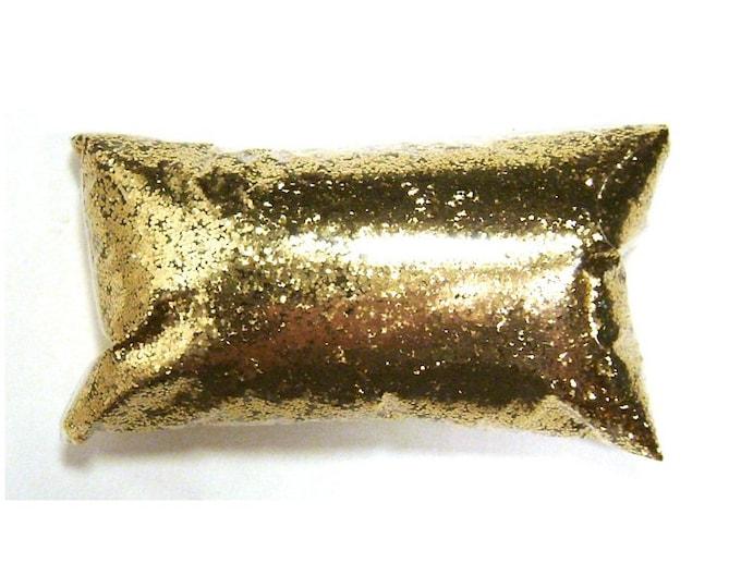 "Chunky Glitter Golden Sand (Dark Gold) .025"" Loose Poly Glitter Nail Polish, Shoes, Body, Epoxy, Bulk Tumbler Glitter 6oz / 177ml Package"