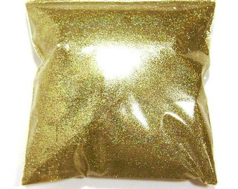 """Holographic Glitter, Gold Jewels, Solvent Resistant .008"""" Fine Polyester Holo Glitter, Nail Polish, Slime, Yeti Glitter 9oz / 266ml Package"""