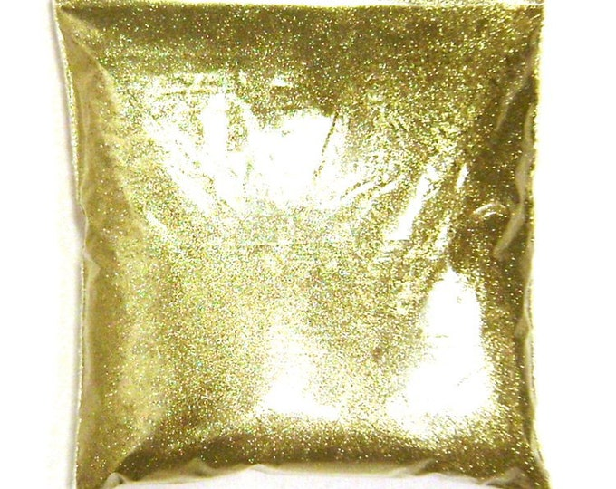 """Bright Gold Extra Fine Glitter .004"""" Solvent Resistant Polyester, Nail Polish, Epoxy Tumblers, Lip Gloss & Body Glitter, 9oz / 266ml Package"""