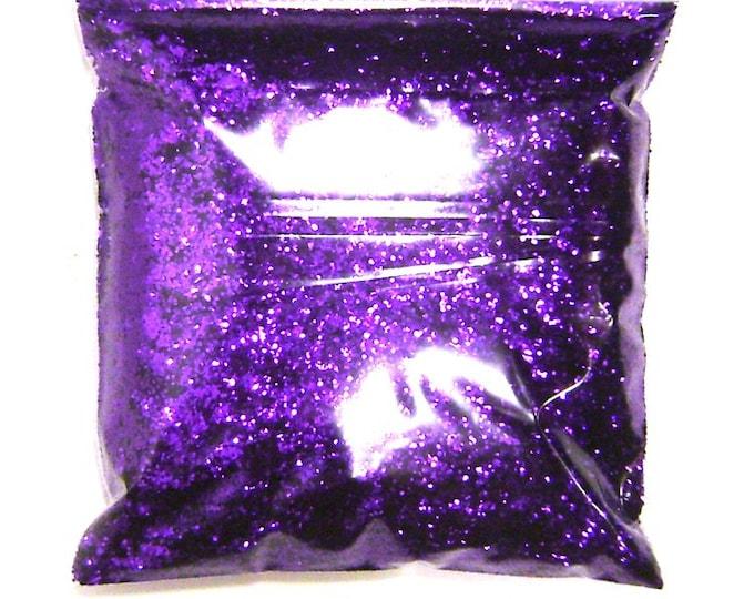 "Bright Purple, Chunky Glitter .025"" Solvent Resistant, Nail Polish Glitter, Resin Jewelry, Tattoo, Shoe, Bulk Glitter - 11oz / 325ml Package"