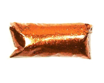 "Bright Orange Chunky Glitter .025"", Solvent Resistant Polyester Glitter. Nail Polish, Jewlery, Tumbler, Slime, Body & Face Painting Glitter"