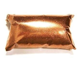 "Loose Shiny Copper Fine Glitter .008"" Solvent Resistant, Nail Art, Lip Gloss, Epoxy Resin Art, Bulk Tumbler Glitter - 6oz / 177ml Package"