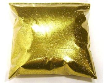 "Rich Gold Glitter, Loose Solvent Resistant, Fine .008"" Hex, Nail Polish, Lip Gloss, Body & Face, Bulk Tumbler Glitter 11oz / 325ml Package"