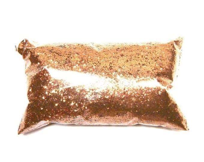 "25% Off Polished Copper Glitter, Chunky .025"" Hex, Solvent Resistant Poly, Custom Tumblers, Resin Art, Lip Gloss, Nail Polish - 6oz / 177ml"