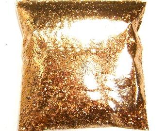 "Metallic Bronze Chunky Glitter .025"" Solvent Resistant, Nail Polish, Lip Gloss, Resin Jewelry, Epoxy Safe, Bulk Glitter, 9oz / 266ml Package"