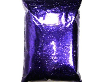 """Metallic Rich Purple Glitter Solvent Resistant Poly .008"""", .015"""" or .025"""" Very Fine to Chunky Professional Bulk Glitter, 1 lb / 454g Package"""