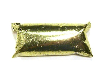 """Bright Gold Glitter, Fine .015"""" Cut, Loose Solvent Resistant Poly Glitter, Shoes, Makeup, Tumblers, Nail Polish, Sneakers, Resin Art Glitter"""