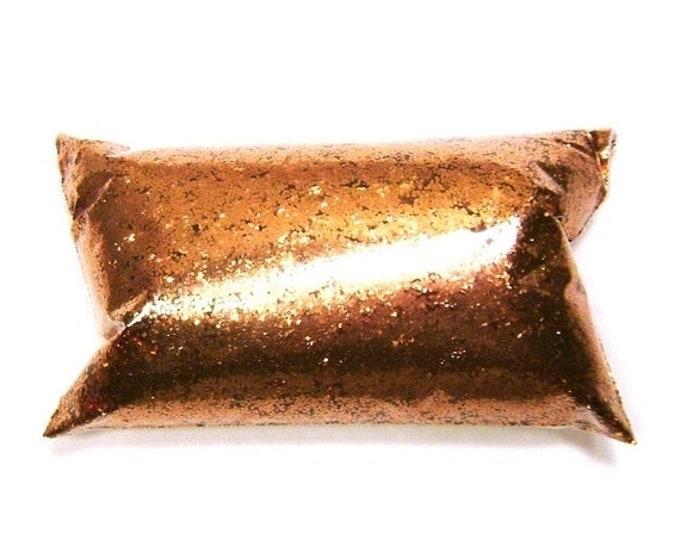 "25% Off Chunky, Shiny Copper Glitter, Bulk Tumbler Glitter, Solvent Resistant, .025"", Epoxy Art, Mason Jars, Candles, Fabric - 6oz / 177ml P"