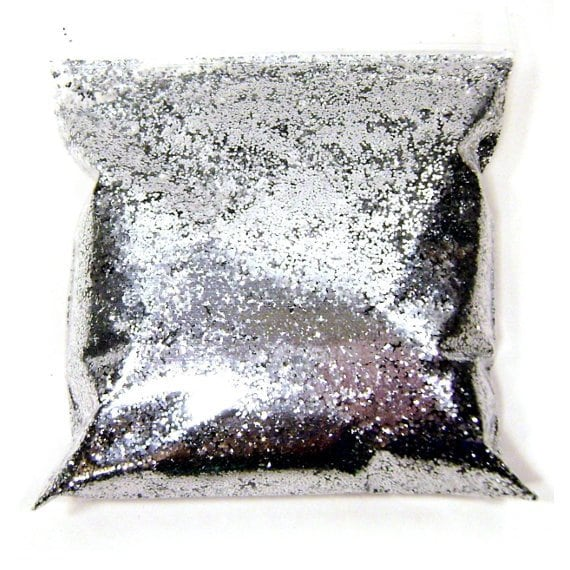 Chrome Silver Chunky Glitter  025 Solvent Resistant Loose