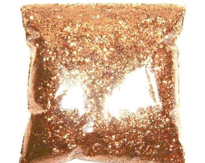 "25% Off Polished Copper Glitter, Solvent Resistant Polyester, Metallic .025"" Chunky Glitter Body, Tattoo,  Resin, Nail Glitter  9oz / 266ml"